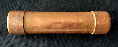 The Copper Cylinder Award, 2013